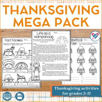 Thanksgiving MEGA Pack 3rd-5th