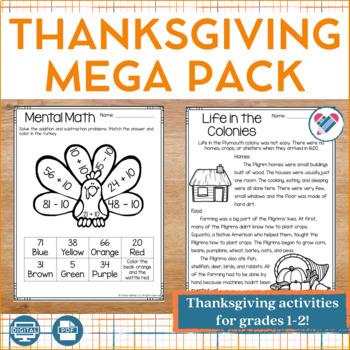Thanksgiving MEGA Pack Grades 1-2