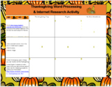 Thanksgiving MS Word & Internet Search Activities for Grades 3-5