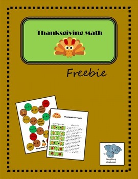 Thanksgiving Math Freebie
