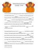 Thanksgiving Mad Lib