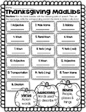 Thanksgiving Madlibs Activity - Individual OR Class