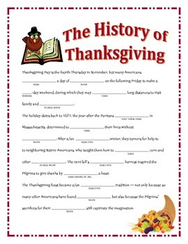 Thanksgiving Madlibs Bundle
