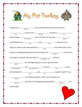 Thanksgiving Madlibs Bundle