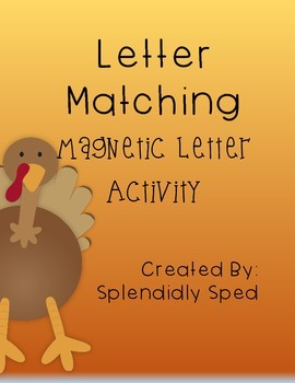 Thanksgiving Magnetic Letter Match