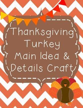 Thanksgiving Main Idea & Details Crafts