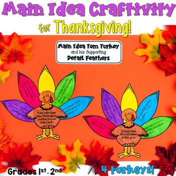 Thanksgiving Main Idea Craftivity (1st & 2nd grade)