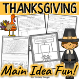 Thanksgiving Main Idea and Details Activities
