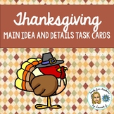 Thanksgiving Main Idea and Details Activity Cards