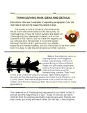 Thanksgiving Main Idea and Details / Ideas principales y detalles