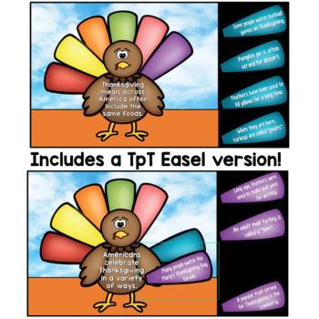 Thanksgiving Main Idea Craftivity (3rd-5th)