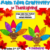 Thanksgiving Main Idea Craftivity (3rd-5th)