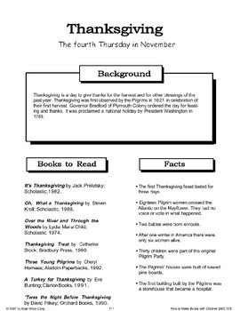 Thanksgiving: Making Books