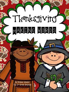 Thanksgiving Making Words Freebie