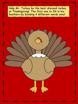 Thanksgiving Activity: Word Work Game
