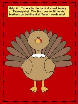Thanksgiving Activity: Word Work Game
