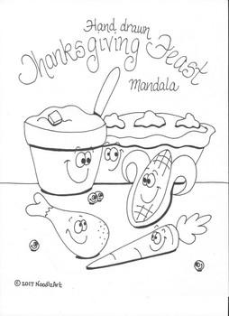 Thanksgiving Mandala Coloring Page