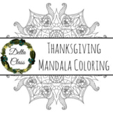 Thanksgiving Mandala Coloring Page