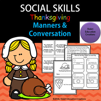 Thanksgiving Manners and Conversation Social Skills