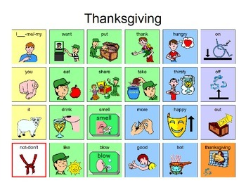 Thanksgiving Manual Board 24 location for AAC Users
