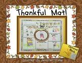Thanksgiving Mat!  Thanksgiving Placemat Craftivity PLUS H
