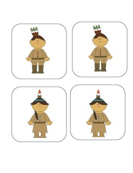 Thanksgiving Matching and Memory Game - 14 pairs!