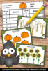 Thanksgiving Math Kindergarten Counting to 10 Math Task Cards Games & Activities