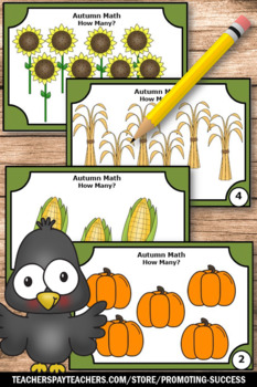 Thanksgiving Kindergarten Math Activities Counting to 10 Task Cards SCOOT