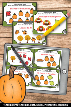 Thanksgiving Math Centers RATIOS 5th 6th Grade Games & Activities { Fractions }