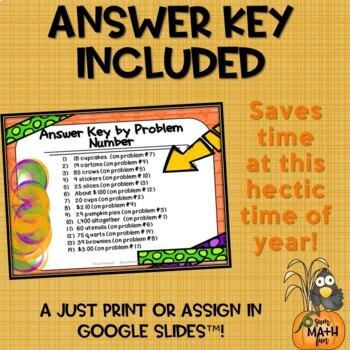Thanksgiving Word Problems Third Grade Scavenger Hunt Fun Solve the Room