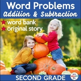 Thanksgiving Word Problems Addition and Subtraction 2nd Grade Differentiated