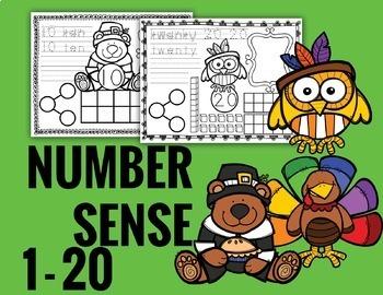 Number Sense Worksheets - Thanksgiving Math
