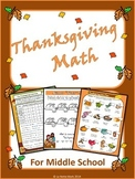 Thanksgiving Activities - Math For Middle School