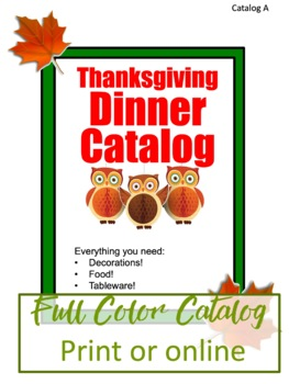 Thanksgiving Math Real Life Project Based Learning Activity - Dinner Planner