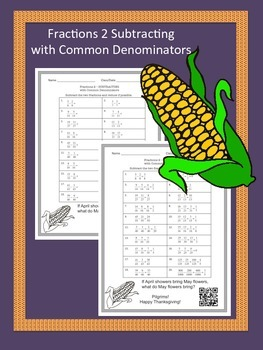 Thanksgiving Math Worksheet