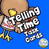 Telling Time Turkey Themed Task Cards for Second Graders