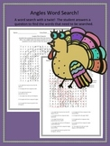 Thanksgiving Math Angles Word Search