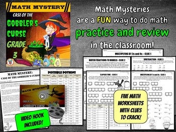 Thanksgiving Math Activity: Math Mystery {GRADE 3 Mixed Math Review}