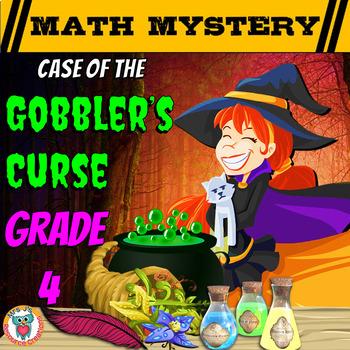 Thanksgiving Math Activity: Math Mystery {GRADE 4 Mixed Ma