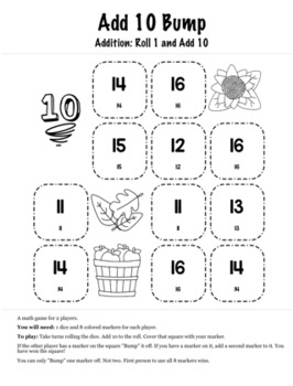 Thanksgiving Math 1st Grade+ Bump Games Bundle