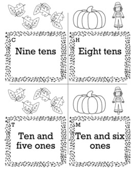 Thanksgiving Math 1st Grade Scavenger Hunt Game Bundle