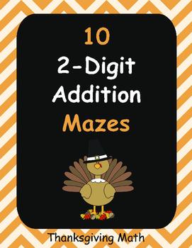 Thanksgiving Math: 2-Digit Addition Maze