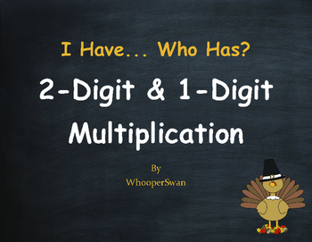 Thanksgiving Math: 2-Digit and 1-Digit Multiplication - I