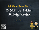 Thanksgiving Math: 2-Digit by 2-Digit Multiplication QR Code Task Cards