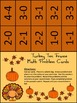 Thanksgiving Math Activities: Turkey Thanksgiving Ten Frames Activity Bundle
