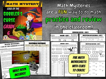 Thanksgiving Math Activity: Math Mystery {GRADE 6 Mixed Math Review}