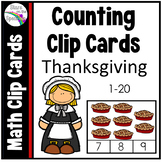 Thanksgiving Math Counting Clip Cards