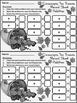 Thanksgiving Math Activities: Cornucopia Thanksgiving Ten Frames Activity - BW