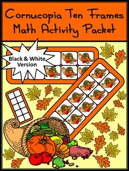 Thanksgiving Math Activities: Cornucopia Thanksgiving Ten