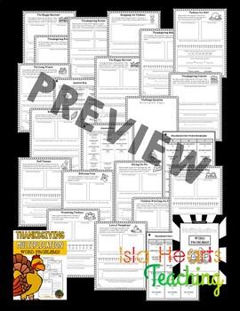 Thanksgiving Math - Thanksgiving Word Problems (Multiplication)